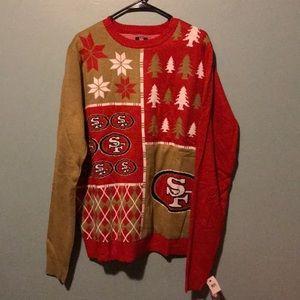 SF 49ers Christmas Ugly Sweater NWT XL Rare